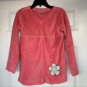 Hanna Andersson Marshmallow V-Neck Pullover-Size10